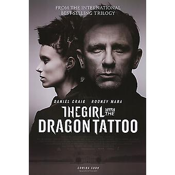 The Girl With The Dragon Tattoo Poster Double Sided Advance (2011) Original Cinema Poster