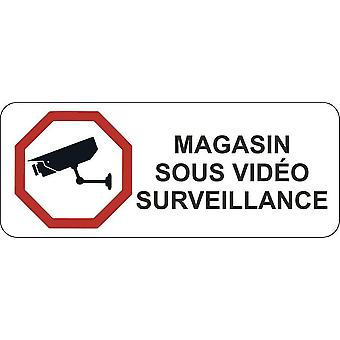 Sticker Sticker Door Door Door Commerce Bureau Store Video Surveillance Pan