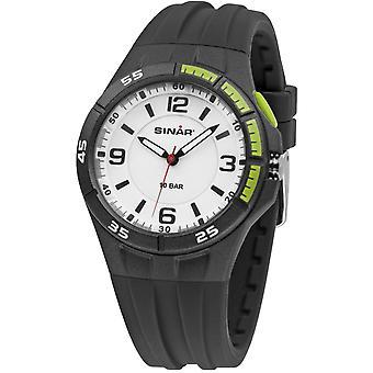 SINAR Youth Watch Wristwatch Analog Quartz Silicone Strap XB-38-1 Noir / Vert