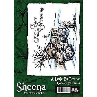 Sheena Douglass A Little Bit Festive A6 Rubber Stamp Set - Country Christmas