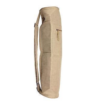 Fitness Mad Jute Bag Eco Friendly Yoga Fitness Equipment Carrier- Naturel