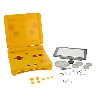 Replacement housing shell kit for nintendo game boy advance sp pikachu edition - yellow