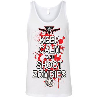 Unisex Mantener la calma y disparar Zombies Tank Top