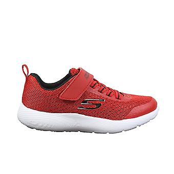 Skechers Dyna-Lite 98120L Red Mesh Boys Bungee Lace/Rip Tape Trainers