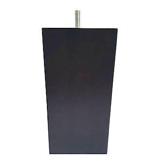 Carrés brun foncé jambe de meubles en bois 16 cm (M8)