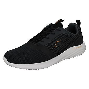 Mens Skechers Elasticated Lace Trainers Bounder 52504