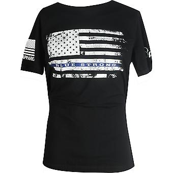 Nine Line Apparel Officer Baker Blue Strong T-Shirt - Black