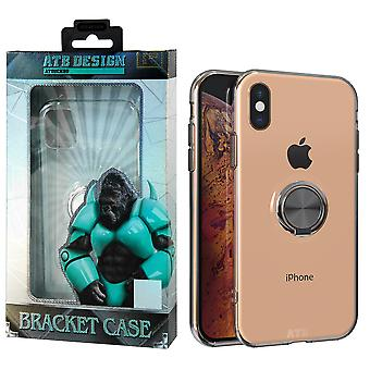 ATB Design Ring Holder Case TPU for iPhone Xs Max Transparent