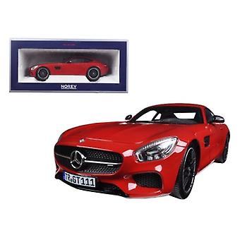 2015 Mercedes AMG GT Red 1/18 Diecast Model Car par Norev