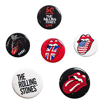 Rolling Stones, 6x Pins