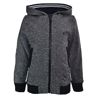 Hugo Boss Boys Hugo Boss Infants And Kids Grey Marl Hooded Sweatshirt