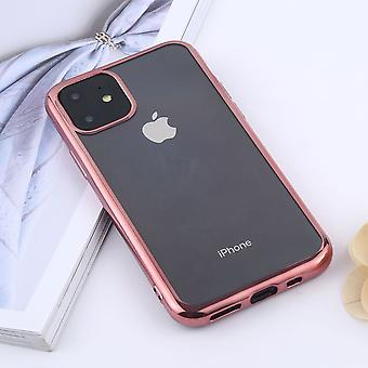 For iPhone 11 Case, Clear Protective Back Cover, Rose Gold