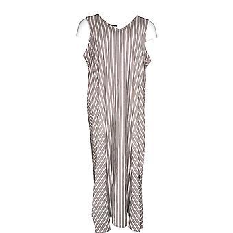 Anybody Petite Dress L Cozy Knit V-Neck Brown Light Brown A306939