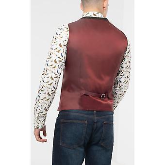 Scottish Harris Tweed Mens Green Barleycorn Tweed Waistcoat Regular Fit 100% Wool Double Breasted