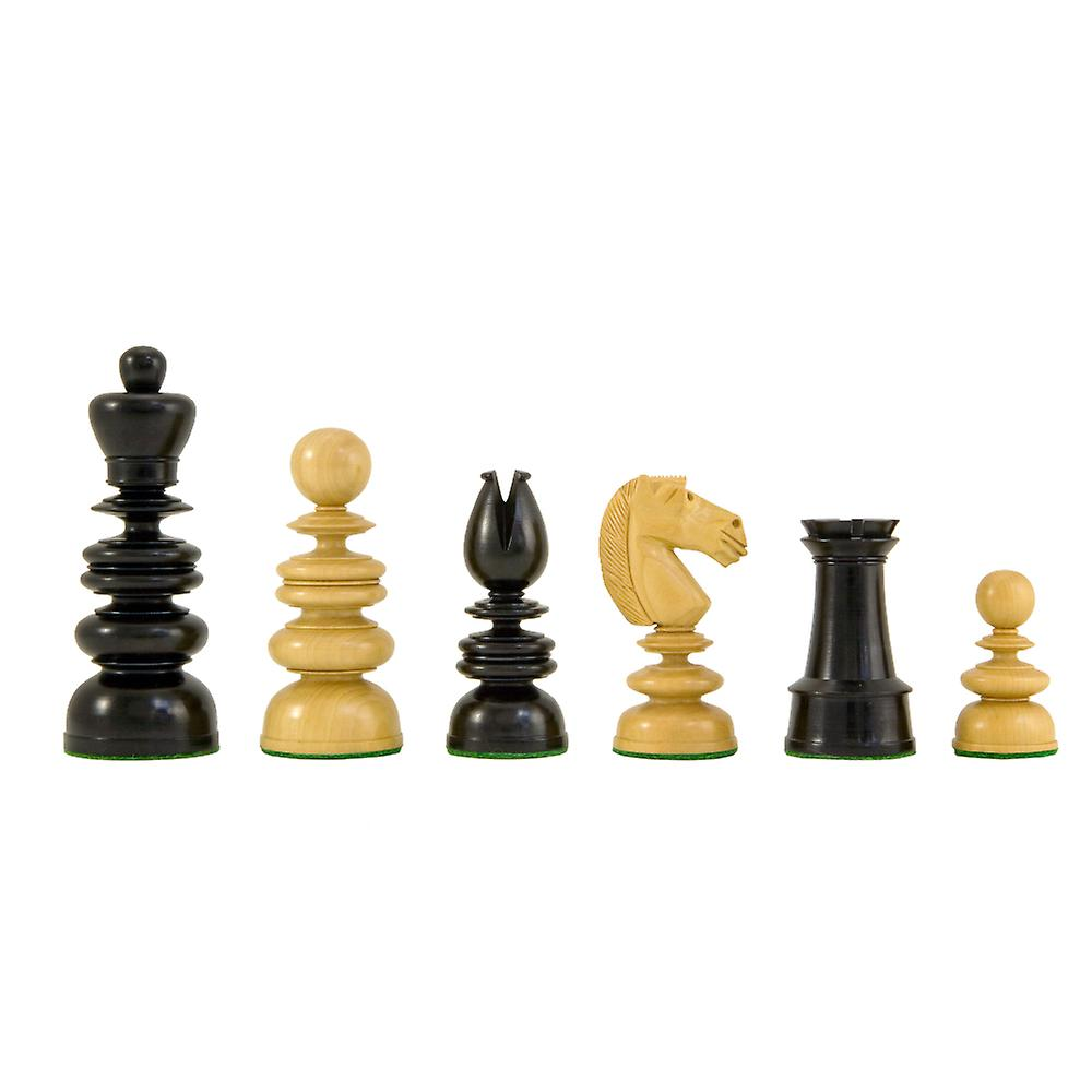 St George Ebony and Boxwood Luxury Chess Pieces 4.25 Inches