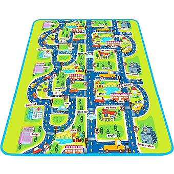 Kids Activity Non Toxic Creeping Play Mat With Town and Road Design