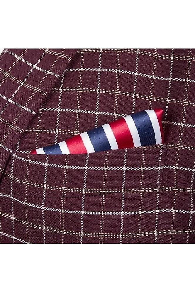 JSS Red & Black Paisley Silk Pocket Square