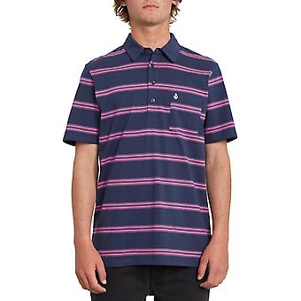 Volcom Smithers Polo Shirt in Blue Black