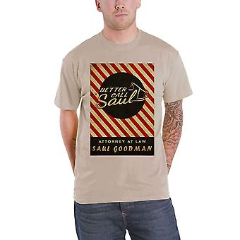 Official Mens Better Call Saul T Shirt Breaking Bad Matchbox Logo New Brown