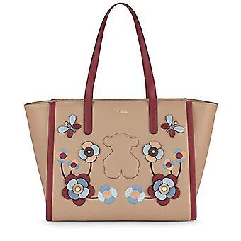 Tous 995890558 Beige Beige women's tote bag (TOPO B03) 35x27x15 cm (W x H x L)