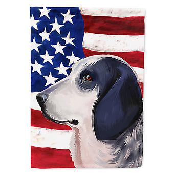 Bleu de Gascogne Dog American Flag Flag Canvas House Size