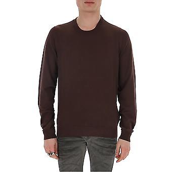 Maison Margiela S30hb0184s17297142 Men's Brown Cotton Sweater
