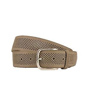 Cintura da donna in pelle grigia con struttura Fori