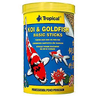 Tropiska Koi & Amp guldfisk grundläggande pinnen Bag10L / 800 Gr (fisk, mat, kallt vatten)