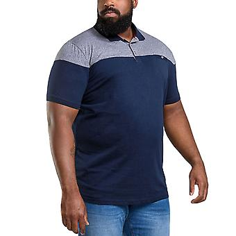 Duke D555 Mens Rigby Big Tall King Size Casual Contrast Polo Shirt Top - Marinha