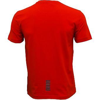Emporio Armani EA7 классические стрейч хлопок футболки, гоночные красный