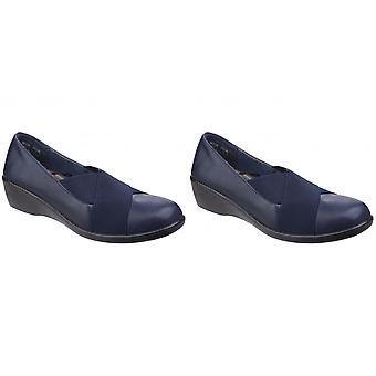 Flottan & främja kvinnor/damer Limba resår Wedge skor