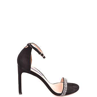 Stuart Weitzman Ezbc158019 Women's Black Suede Sandals