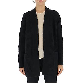 Laneus Cdd532cc4nero Women's Black Wool Cardigan