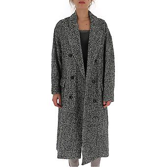 Isabel Marant ÉToile Ma023619a012e02 Women's Grey Wool Coat
