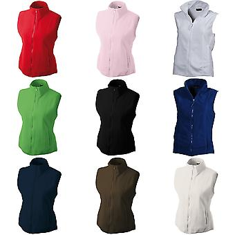 James and Nicholson Womens/Ladies Microfleece Vest