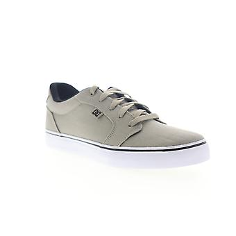 DC Anvil TX M  Mens Gray Canvas Low Top Lace Up Skate Sneakers Shoes