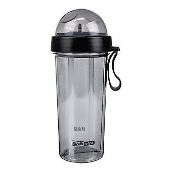 Dwuczęściowa butelka na wodę ze słomką - czarna