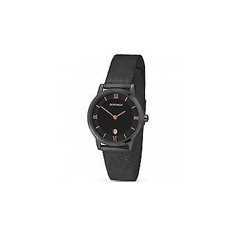 Sekonda Ladies Black Dial Stainless Steel Bracelet Watch 2244