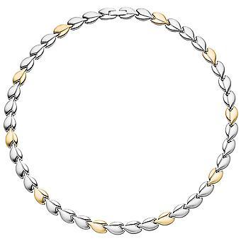 قلادة المرأة / قلادة في الفولاذ المقاوم للصدأ ألوان الذهب المغلفة ثنائية اللون 45 سم سلسلة