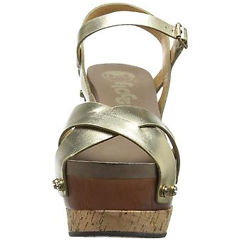 Flogg Womens Lexi Leather Peep Toe Casual Platform Sandals