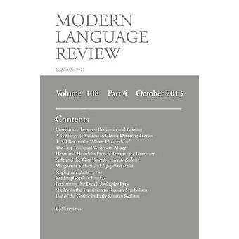 Modern Language Review 108 4 October 2013 by Richardson & Brian