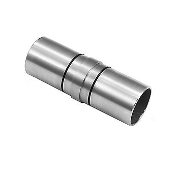 Handrail Straight Connector Circular 42mm Stainless Steel Metal Staircase Rail