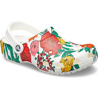 Crocs Womens Classic Floral Print Sling Back Zomer klompen