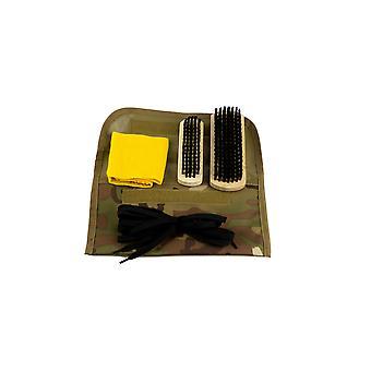 Web-Tex Katonai Boot Care Tisztító Kit 2 kefék Duster fűző eredeti V-Cam Álcázás