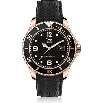 Ice Watch Armbåndsur Unisex ICE stål Sort Rose-Gold Ekstra stor 017327