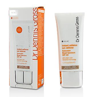 Dr Dennis Gross Instant Radiance Sun Defense Sunscreen Broad Spectrum SPF 40- Medium - Deep 50ml/1.7oz