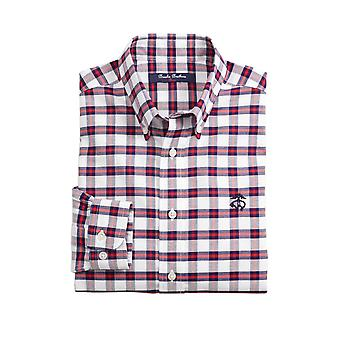 Brooks Brothers Boys' Camiseta de cuadros sin hierro