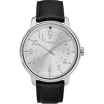 Tw2R85300, Timex Tw2R85300 Men'S Black Leather Strap Watch