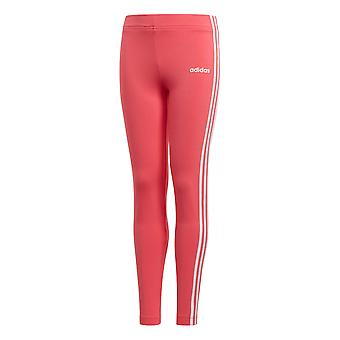 adidas Essentials 3-Stripe Girls Kids Sports Legging Tight Pant Pink