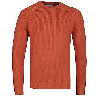 Samsoe & Samsoe Orange Flint Crew Neck Sweater